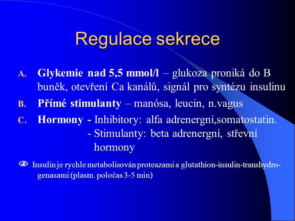 Regulace sekrece A.