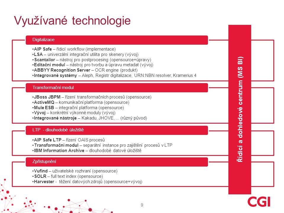 9 Využívané technologie AIP Safe – řídicí workflow (implementace) LSA – univerzální integrační utilita pro skenery (vývoj) Scantailor – nástroj pro po