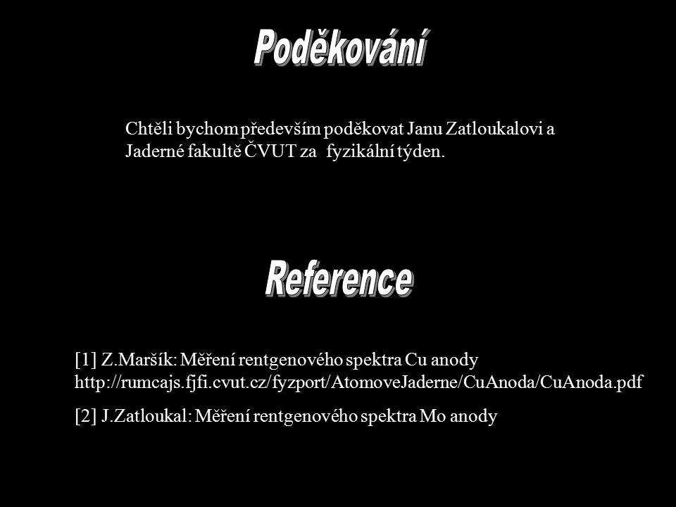 Chtěli bychom především poděkovat Janu Zatloukalovi a Jaderné fakultě ČVUT za fyzikální týden.