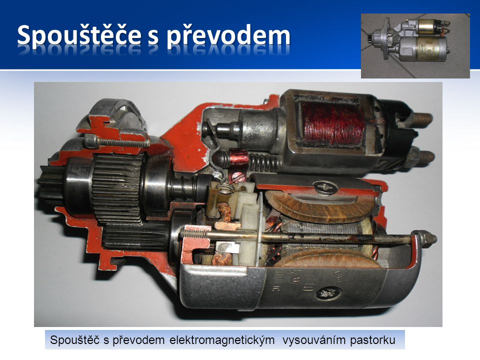 12V 3,0 KW s převodem