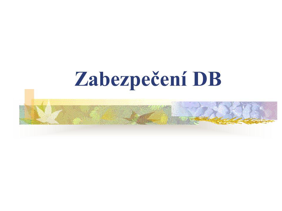 Zabezpečení DB