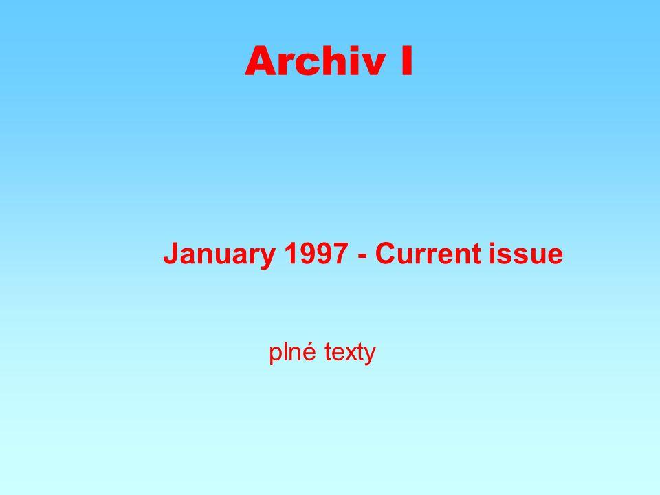 Archiv II January 1987 - December 1996 abstrakty