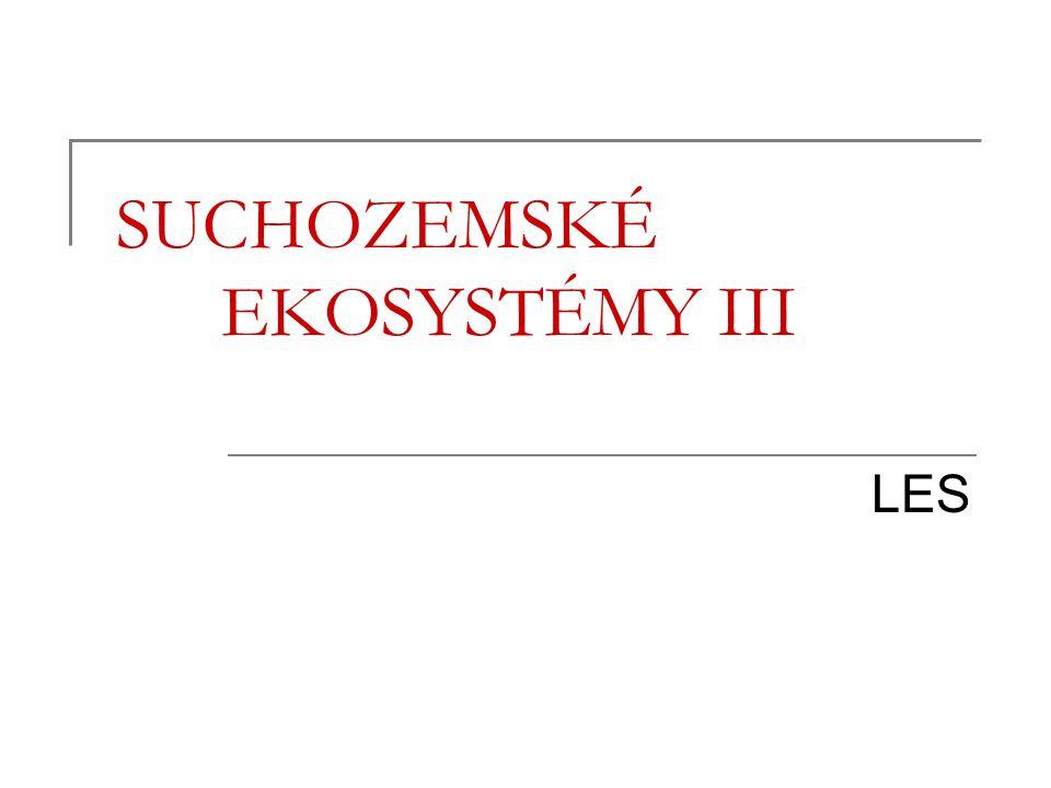 SUCHOZEMSKÉ EKOSYSTÉMY III LES