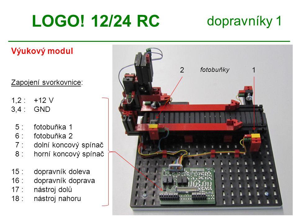 dopravníky 1 Schéma zapojení LOGO.