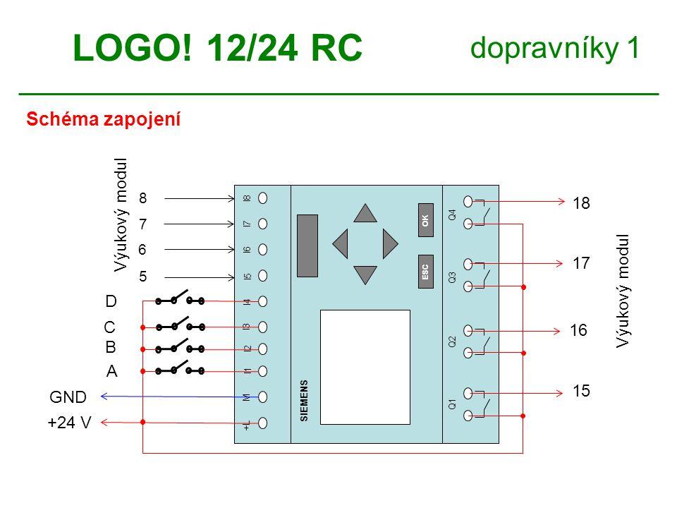 dopravníky 1 LOGO! 12/24 RC Otevřeme vývojové prostředí LOGO Soft. Otevřeme nový dokument typu LAD.