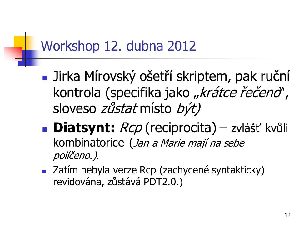12 Workshop 12.