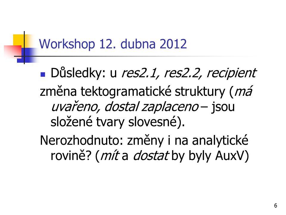 7 Workshop 12.dubna 2012 Řešení pro PDT 3.0 Act vs.
