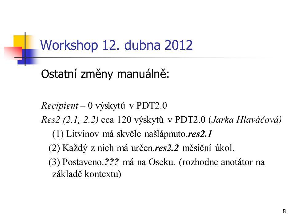 9 Workshop 12.dubna 2012 Rozdíl pas vs.