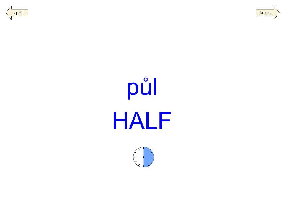 půl HALF koneczpět