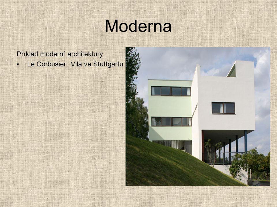 Moderna Příklad moderní architektury Le Corbusier, Vila ve Stuttgartu