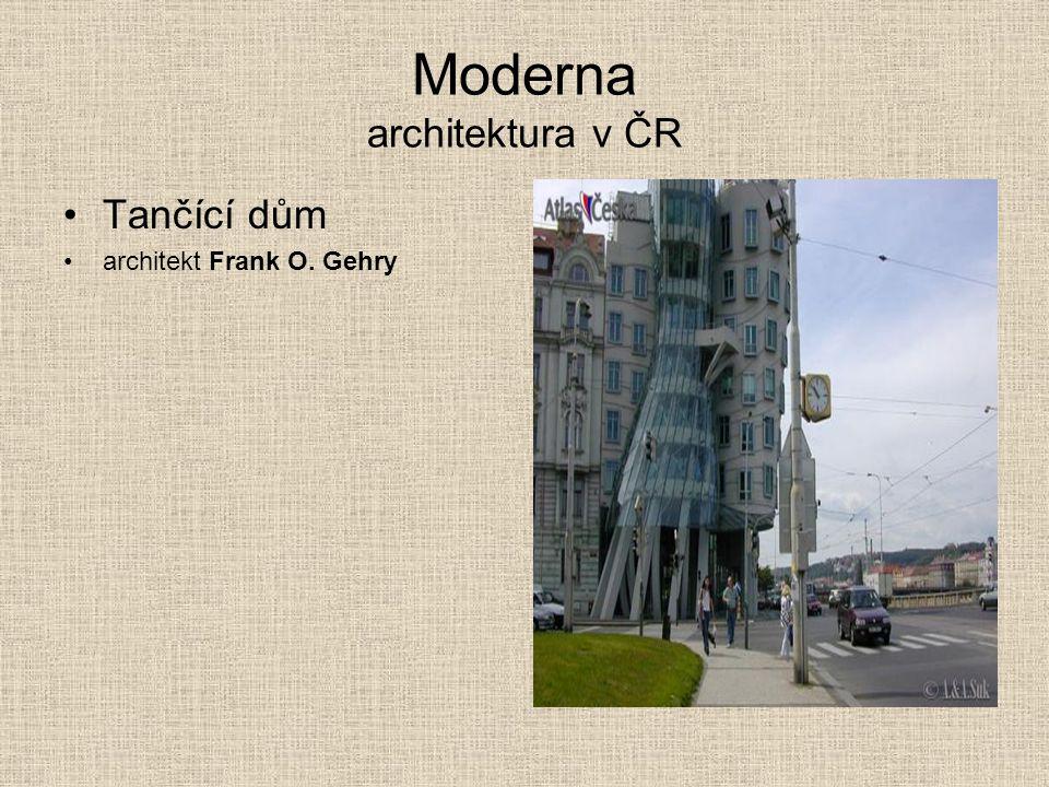 Moderna architektura v ČR Tančící dům architekt Frank O. Gehry