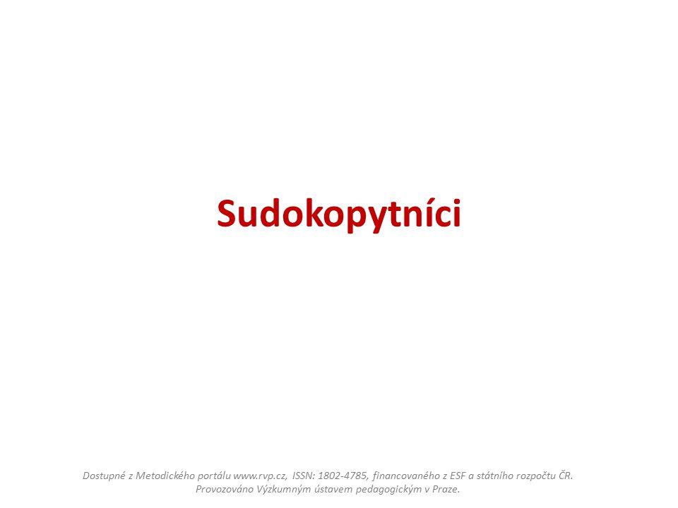Sudokopytníci Dostupné z Metodického portálu www.rvp.cz, ISSN: 1802-4785, financovaného z ESF a státního rozpočtu ČR.