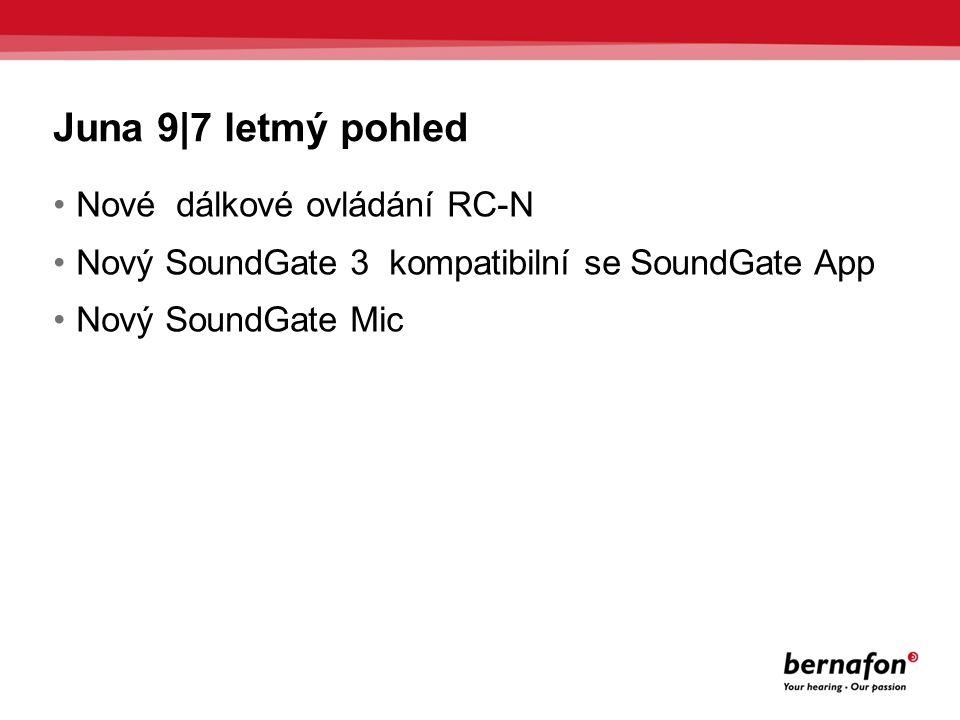 SoundGate App Spolupracuje s SoundGate 3 iPhone ® může být použit jako dálkový ovladač Změny hlasitosti a programů Diskrétní ovládání sluchadel