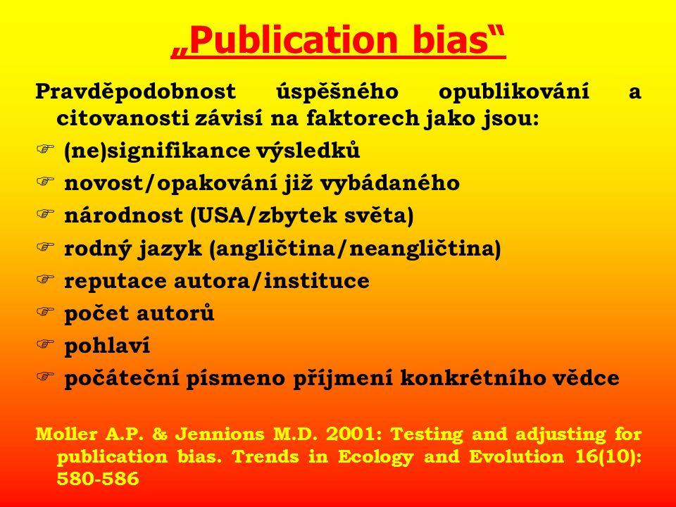 """Hlavní kritéria kvality vědecké práce Kritéria s výpovědní hodnotou vysokou Citovanost Impakt faktor (korelát potenciální citovanosti) Web of Science (1980 - recent) Kritéria s výpovědní hodnotou malou či žádnou  vedení diplomantů, doktorandů  účast na konferencích  grantová úspěšnost  pseudopublikace (abstrakta)  lokální časopisy v obskurních jazycích """"Vědecká práce se pozná především podle toho, že není psána česky (J."""