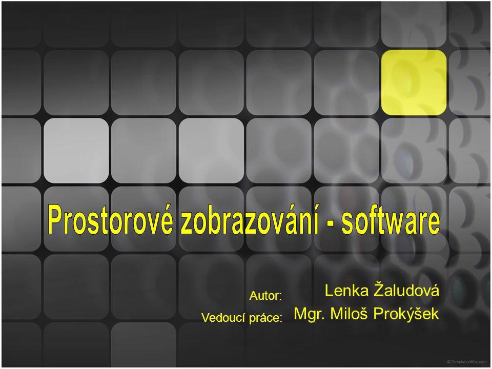 Autor: Vedoucí práce: Lenka Žaludová Mgr. Miloš Prokýšek