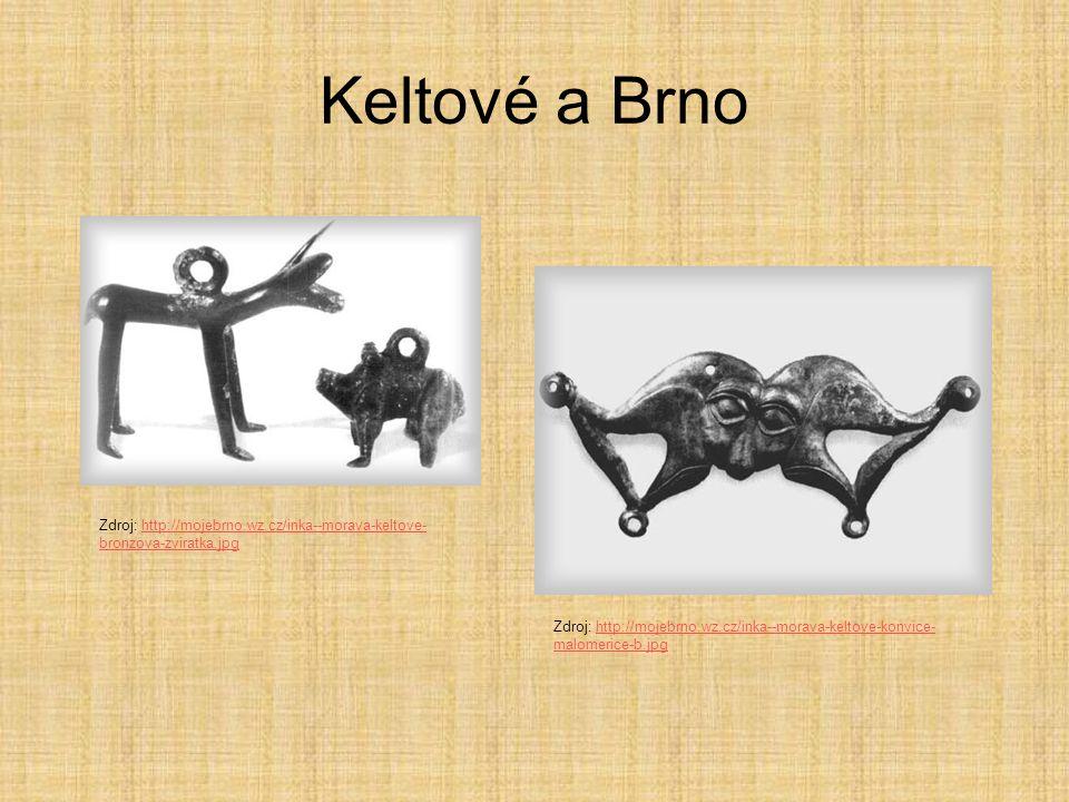 Keltové a Brno Zdroj: http://mojebrno.wz.cz/inka--morava-keltove- bronzova-zviratka.jpghttp://mojebrno.wz.cz/inka--morava-keltove- bronzova-zviratka.j