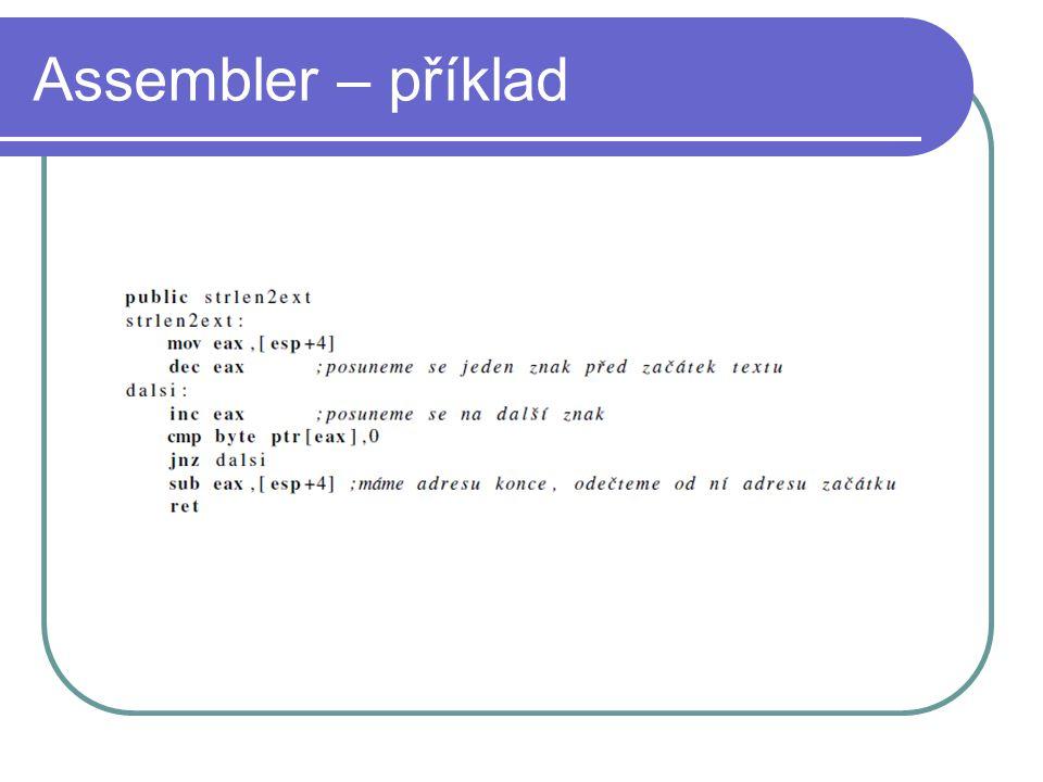 Strojový kód - příklad