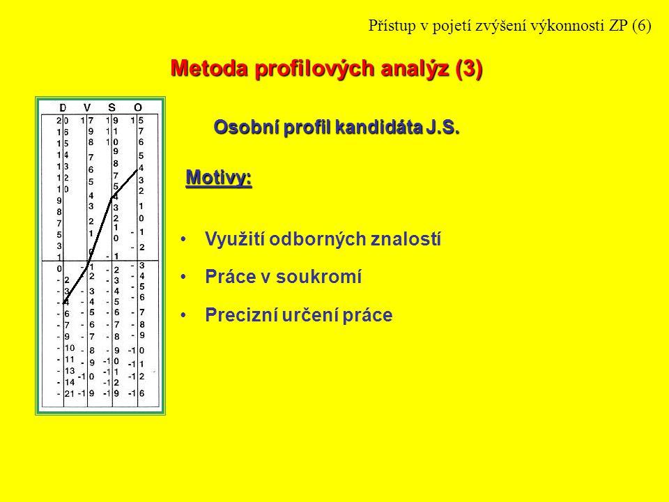 Profil J.S.Profil B.H.Profil soudceProfil notář Metoda profilových analýz (4) - Porovnání AOP s APP Přístup v pojetí zvýšení výkonnosti ZP (7)