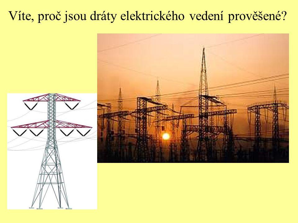 Víte, proč jsou dráty elektrického vedení prověšené?