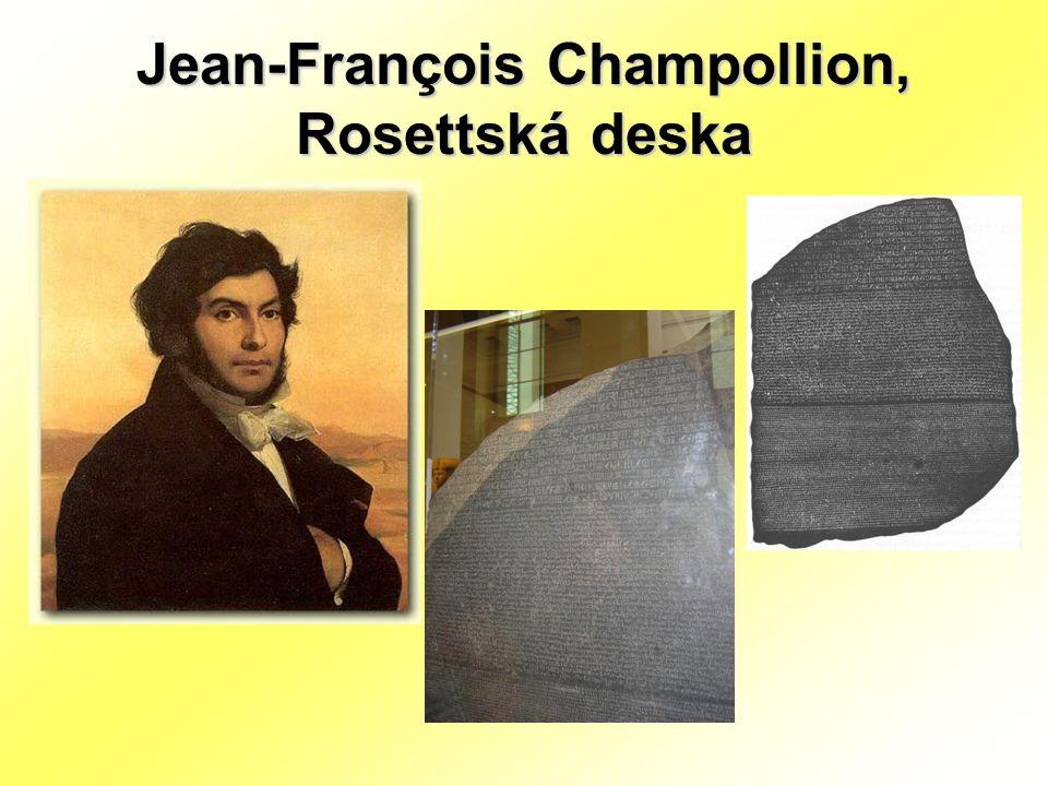Jean-François Champollion, Rosettská deska