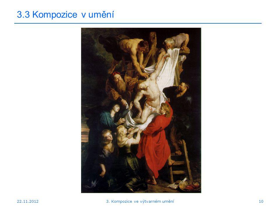22.11.2012 3.3 Kompozice v umění 3. Kompozice ve výtvarném umění10
