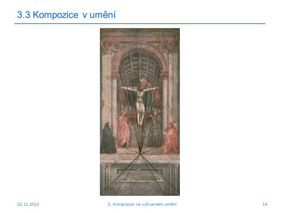 22.11.2012 3.3 Kompozice v umění 3. Kompozice ve výtvarném umění14
