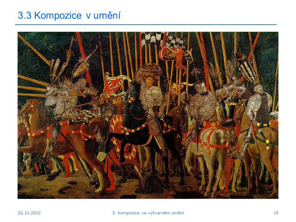 22.11.2012 3.3 Kompozice v umění 3. Kompozice ve výtvarném umění15