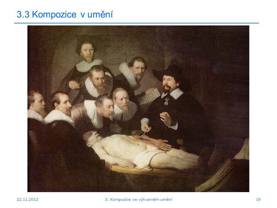 22.11.2012 3.3 Kompozice v umění 3. Kompozice ve výtvarném umění19