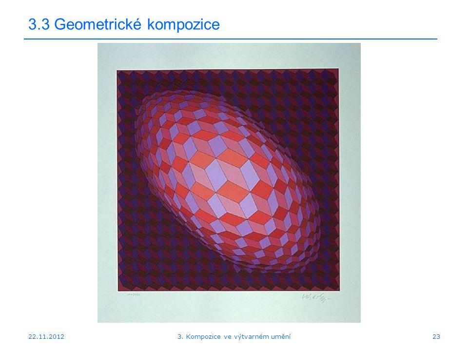 22.11.2012 3.3 Geometrické kompozice 3. Kompozice ve výtvarném umění23