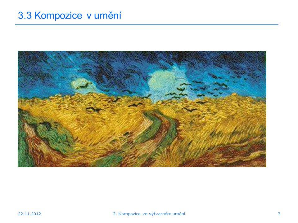 22.11.2012 3.3 Kompozice v umění 3. Kompozice ve výtvarném umění3