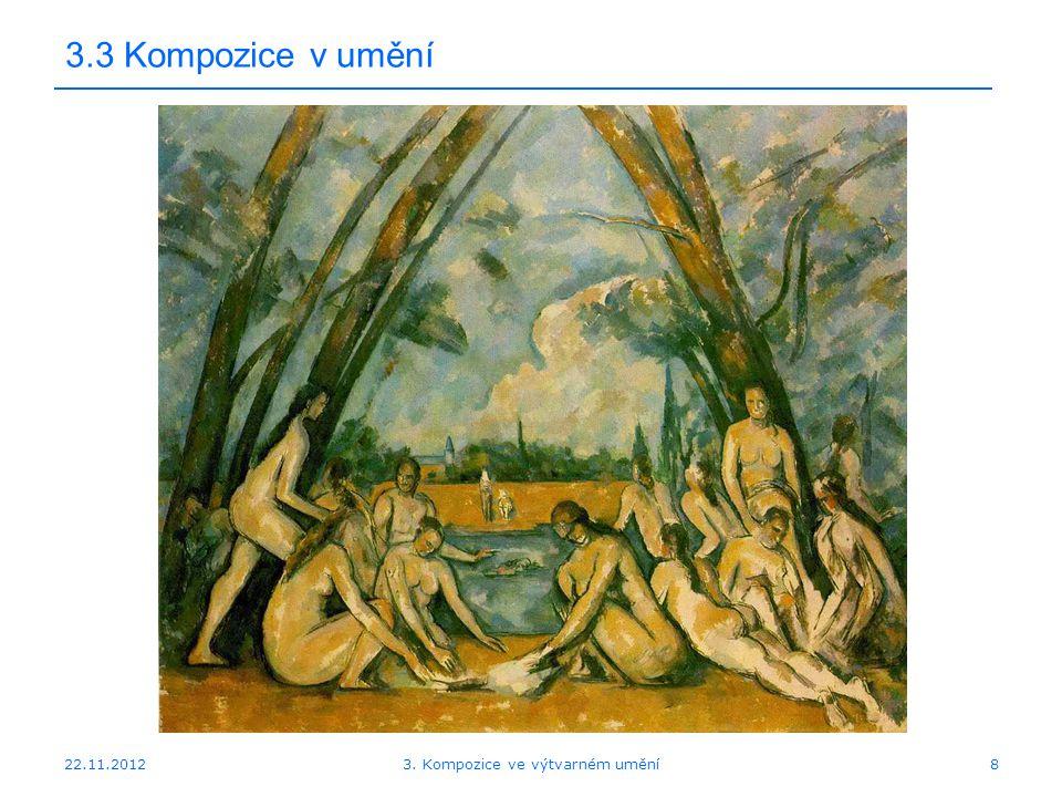 22.11.2012 3.3 Kompozice v umění 3. Kompozice ve výtvarném umění8
