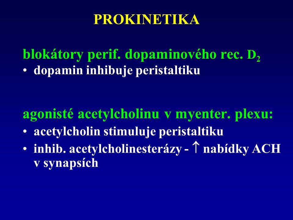 PROKINETIKA blokátory perif.dopaminového rec.