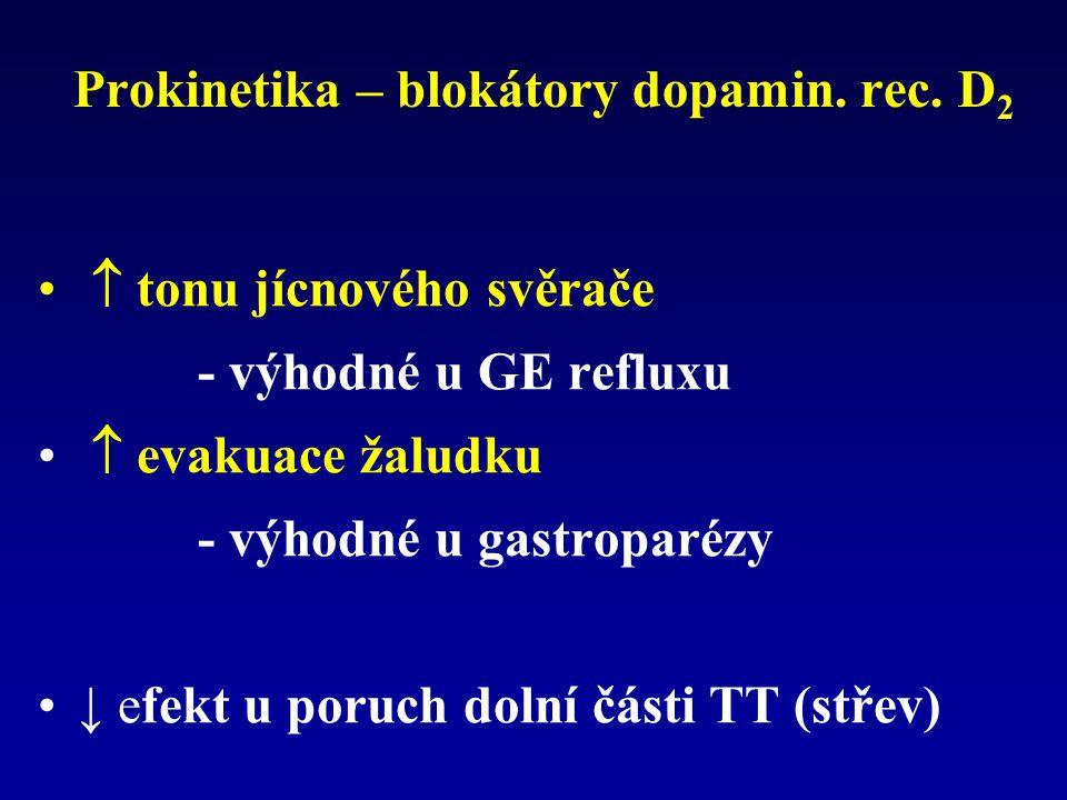 Prokinetika – blokátory dopamin.rec.