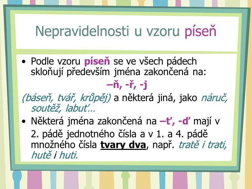 Nejste-li si jisti správným tvarem – nahlédněte do Pravidel českého pravopisu.