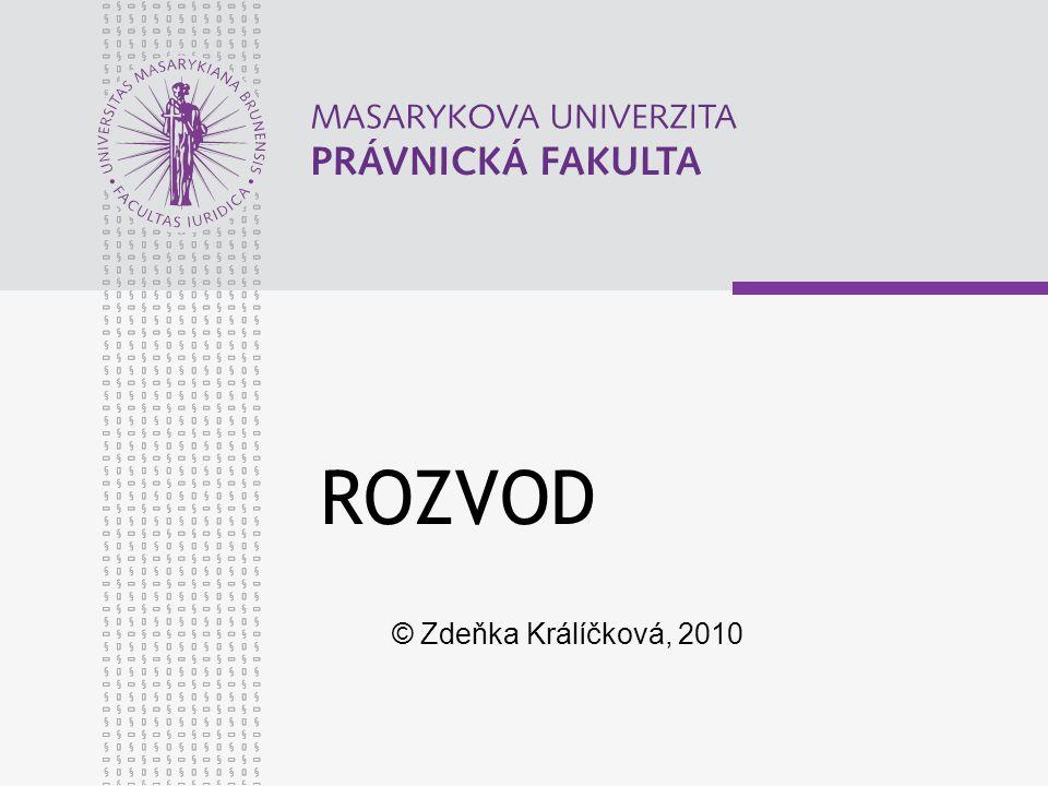 ROZVOD © Zdeňka Králíčková, 2010
