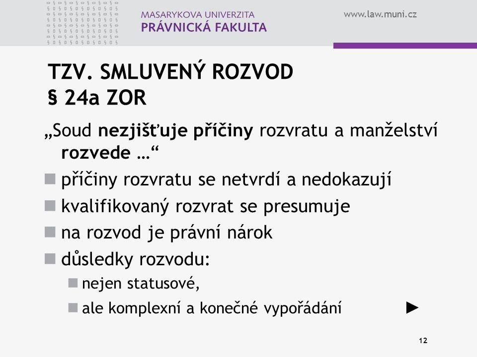 www.law.muni.cz 12 TZV.