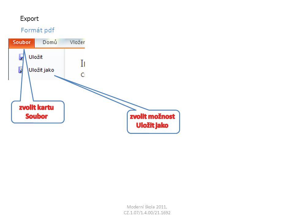 Export Formát pdf