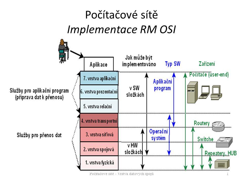 Počítačové sítě Implementace RM OSI Počítačové sítě - Vrstva datových spojů 1