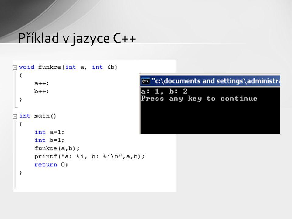 Příklad v jazyce C++