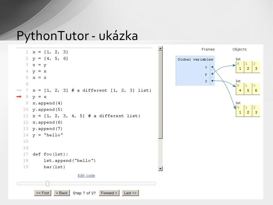 PythonTutor - ukázka