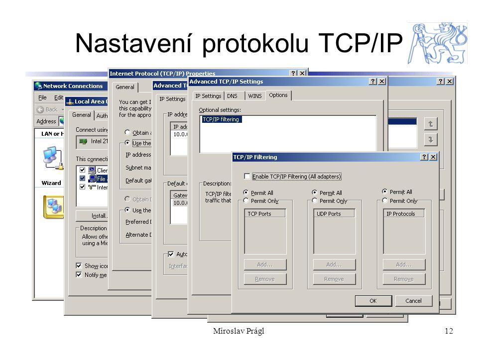 12 Nastavení protokolu TCP/IP Miroslav Prágl