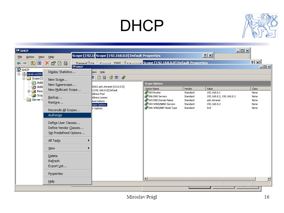 16 DHCP Miroslav Prágl