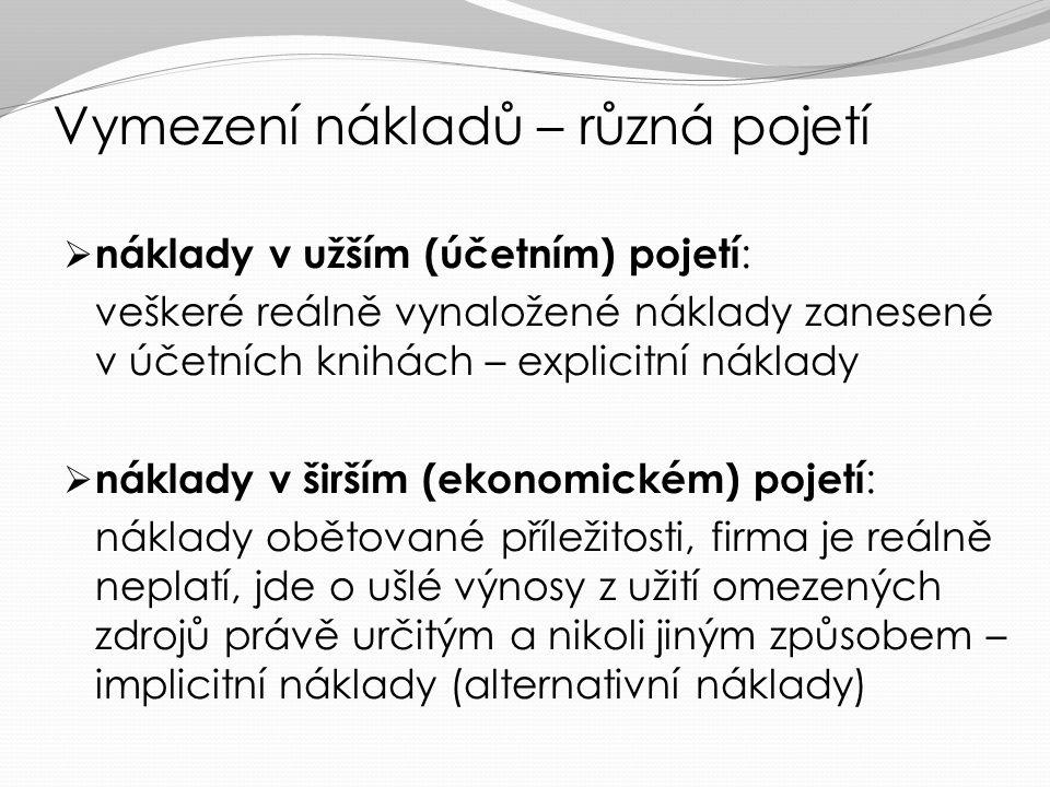 Literatura k tématu Soukupová, J. et al.: Mikroekonomie. 3. vydání. Kapitoly 6 a 7, str. 190 – 231 Varian, H. R.: Mikroekonomie – moderní přístup. Kap