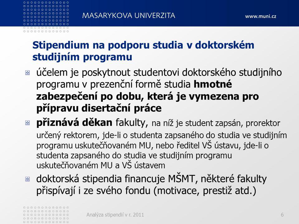 fakultaminimum Kčmaximum Kč pozn á mka LF 7 400 V prosinci maj í prezenčn í doktorandi 2.