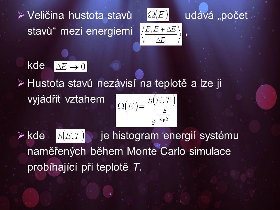  Během simulace parallel tempering Monte Carlo se naměří histogram zvlášť pro každý systém.