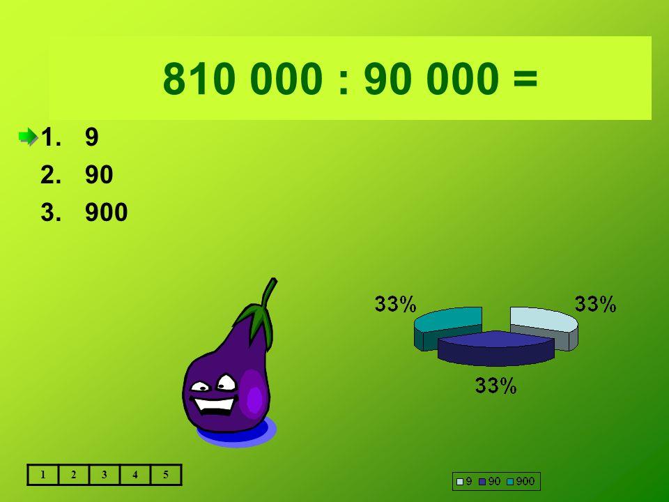 Vložte text otázky... 810 000 : 90 000 = 1.9 2.90 3.900 12345