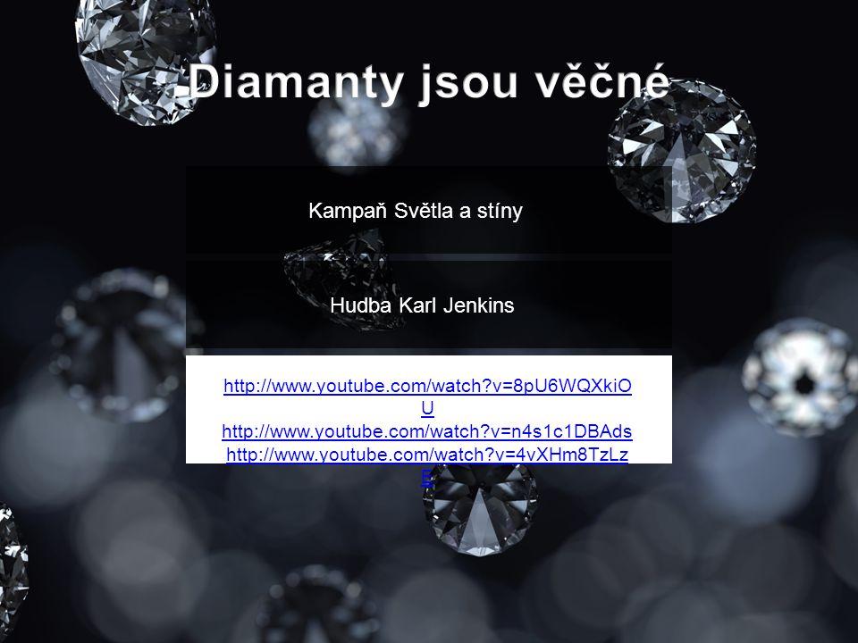 Kampaň Světla a stíny Hudba Karl Jenkins http://www.youtube.com/watch?v=8pU6WQXkiO U http://www.youtube.com/watch?v=n4s1c1DBAds http://www.youtube.com/watch?v=4vXHm8TzLz E