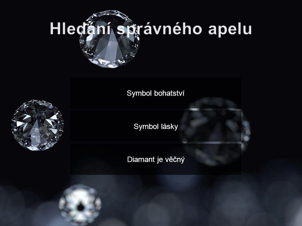Symbol bohatství Symbol lásky Diamant je věčný