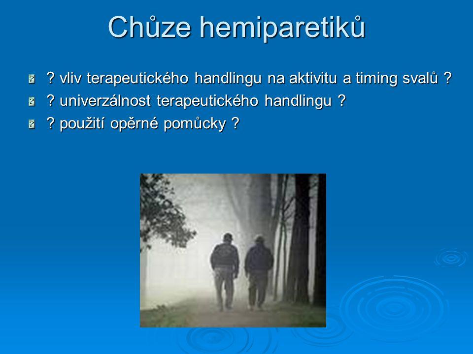 Chůze hemiparetiků .vliv terapeutického handlingu na aktivitu a timing svalů .