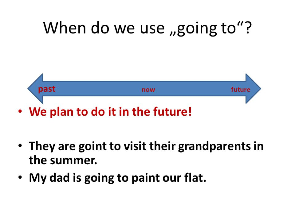"When do we use ""going to . We plan to do it in the future."